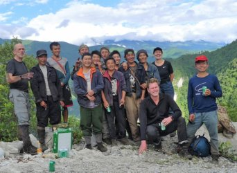 Our team of Lisu porters are all smiles after the successful completion of our latest intrepid expedition into the wild Gaoligong Mountains of Yunnan­ in June 2018.­